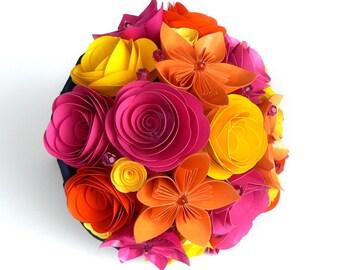 Spring Wedding Bouquet, Pink Bouquet, Orange Wedding Flowers, Yellow Wedding Bouquet, Pink Blue Wedding, Pink Wedding Bouquet, Neon Bouquet