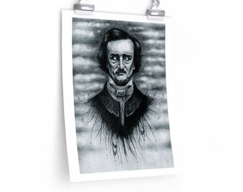 Edgar Allan Poe - Archival Prints - Multiple Sizes *Shipping DISCOUNT on Multiple Items*
