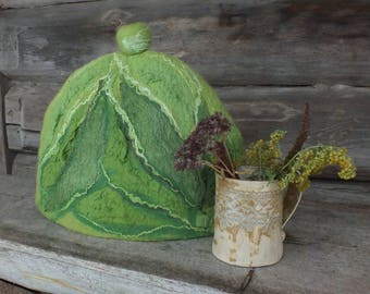 Felted Tea Cozy, Felt Tea Pot Cosy, Tea Pot Warmer, Handmade Woollen Teapot Cover, Mothers Day Gift
