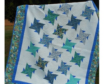Quilt Pattern -  Sweet Serenity Quilt Pattern - Throw to King Size  - Hard Copy Version - FREE SHIPPING!!