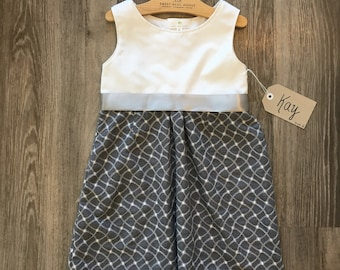 Size 6 Fit and Flare Dress w/belt- Kay