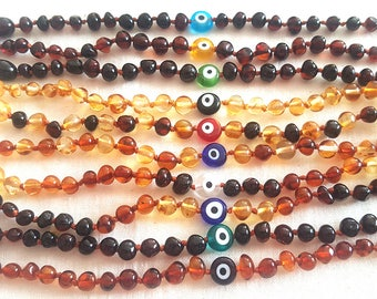 Baltic Amber Baby Teething Anklets lot of 10 pcs.