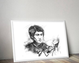 Bruce Lee Gliceé Art/Canvas Print [Limited Edition]