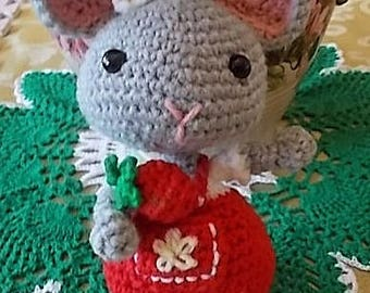 Amigurumi Mouse with Strawberry