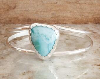 Larimar Cuff Bracelet in Sterling Silver