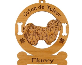 3012 Coton de Tulear Personalized Dog Ornament