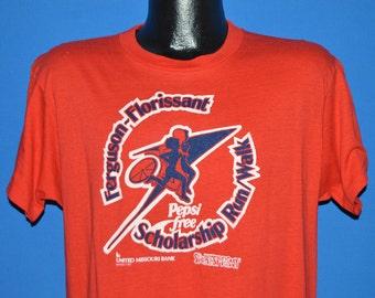 80s Pepsi Free Ferguson Florissant Run t-shirt Large