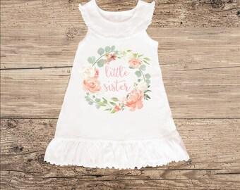 Little Sister Dress for Spring, Sleeveless Ruffle Dress