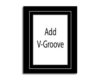 Add V-Groove to Any Size Photo Mat