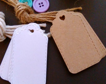 Product Label - Price Tag - Price Label - Handmade Tags - Handmade Labels - Sewing Label - Different Colours Available - Pack of 50