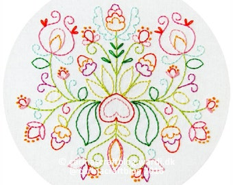 Summer Bouquet Embroidery Pattern - PDF