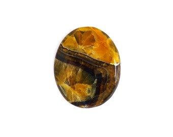 RESERVED Simbercite or Simbircite Pyrite Agate Designer Cabochon 37.8x48.5x7.0 mm 138 carats Free Shipping