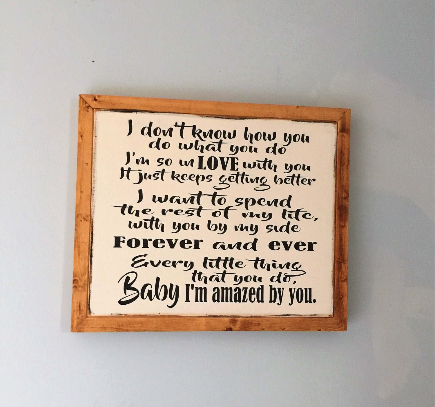 Wedding Song Sign Amazed By You Song Lyric Sign Anniversary Or