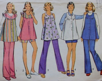 Simplicity 5421 Maternity Smock and Pants Sewing Pattern Bust 30.5