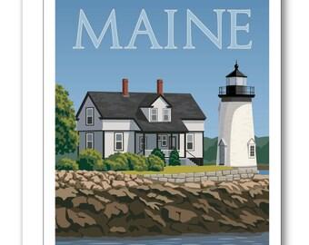 Prospect Harbor Lighthouse card BP11