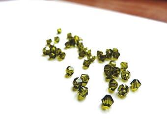 Swarovski Crystal bicone 4 mm Olivine Green