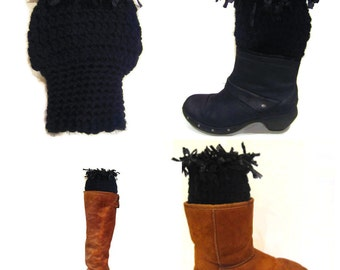 Women's Boot Cuffs, Boot Cuffs, Boot Toppers, Handmade Boot Toppers, Boot Socks, Funky Boot Cuffs, Bohemian Chic, Winter Festival