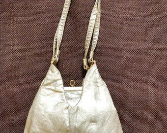 60's Harry Levine Gold Lame Evening Bag with matching Coin Purse