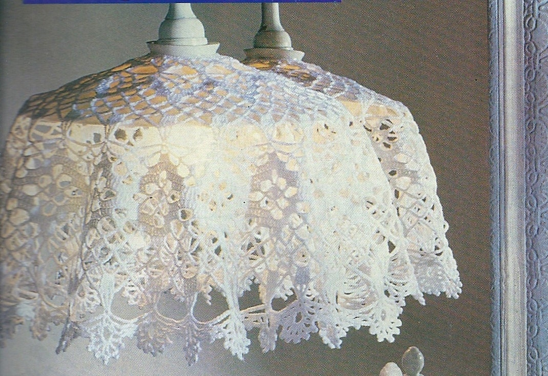 Crocheted lampshade cover no3 zoom mozeypictures Gallery