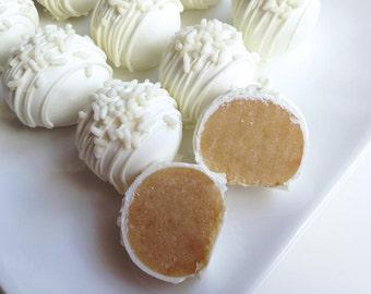 Very Vanilla Cake Truffles - Cake Bites - Cake Truffles - White Chocolate Vanilla Cake