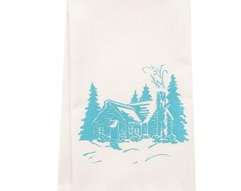 ORGANIC block print cabin towel