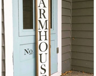 Farmhouse Sign | Vertical farmhouse sign | Farmhouse Decor | Fixer Upper Inspired | Hand Painted Wood Sign | Wall Art | Wall Gallery
