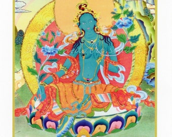 Goddess Green Tara Hand-Embellished Card