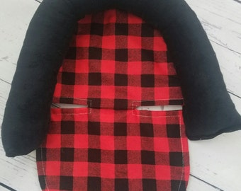Carseat Canopy Head Support Only You Choose Cotton and  Minky Color
