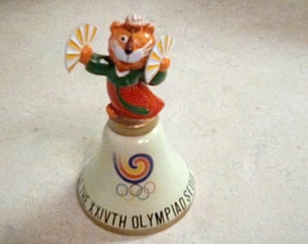 Games Of The XXIVTH Olympaid Seoul 1988 Korea Tiger Mascot Bell Olympics