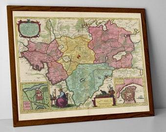 Old Map of Gottorf | Historical Schleswig-Holstein Map – Schwabstedt, Erfde, Kropp, Owschlag, Hohn, Rendsburg, Fleckeby, Eckernförde, Husum
