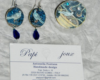 "Byzantium collection - ""Doves"" set"