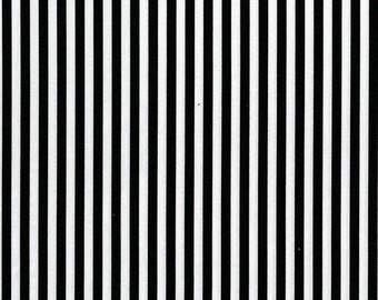 Black and White Clown Stripe Fabric from Michael Miller - Half Yard - 1/2 Yard -  Black Stripes