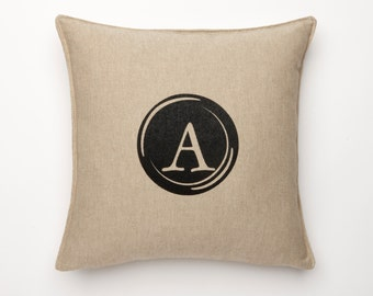 Retro Typewritter Font Letter Pillow Cover