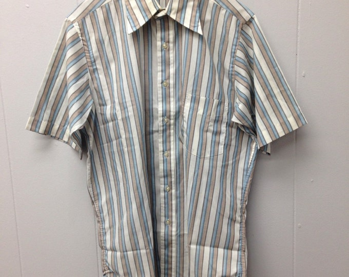 1960s Wiesel Co. Sero Shirtmakers shirt sleeve shirt with stripes.