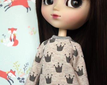 Crown Sweater for Pullip,Momoko & Barbie