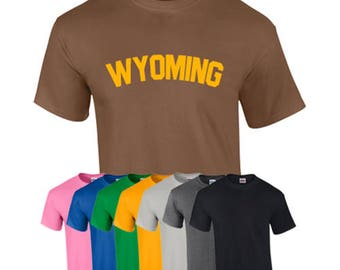 T-Shirt Wyoming State Custom Shirt & Ink Color