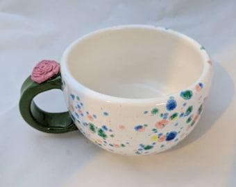 Rosebud bowl mug