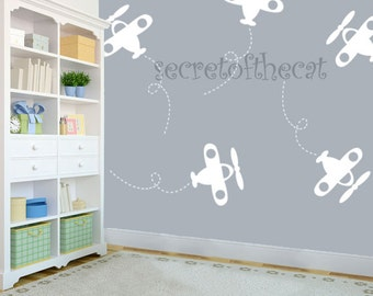 Wall Decals Nursery - Wall Pattern Decal - Aeroplane Wall Decal - Pattern Decal - Wall decal - Aeroplane