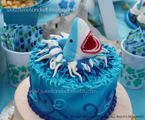 recipe: shark cupcake topper [8]