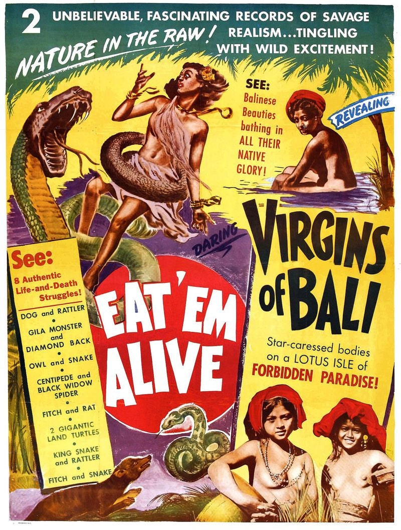 Virgins of Bali Eat em Alive Erotic Movie Film Vintage