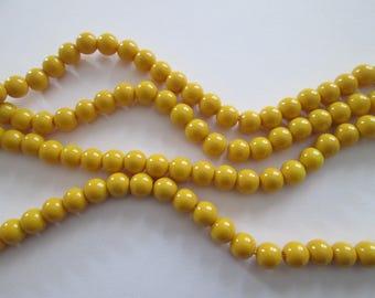 8 mm 20 perles rondes en verre jaune citron diamètre 8 mm