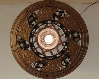 Repurpose Hanging Metal Basket Light