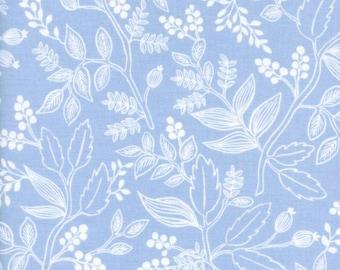 Cotton + Steel - Rifle Paper Co. - Les Fleurs - Queen Anne in Pale Blue