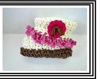 crochet pattern, Baby booties,  crochet for baby. baby shower gift, num. 908