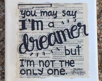 IMAGINE DREAMER word art