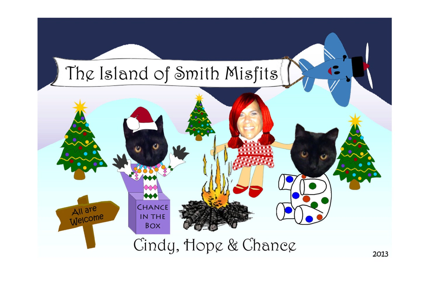 Island of misfit toys unique family photo christmas card zoom kristyandbryce Gallery