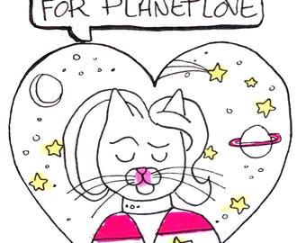 Cat Trekkie Valentines Card
