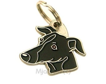 Pet ID tag, (Dog ID tag) Personalised, stainless steel, breed, Sighthound (Whippet, Greyhound)