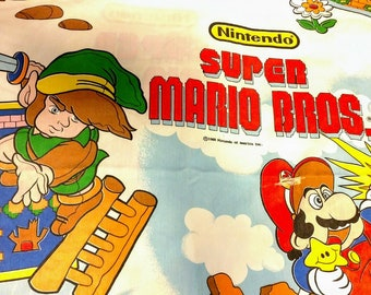 Super Mario Bros and Zelda Vintage 1988 Sheet Set, Nintendo