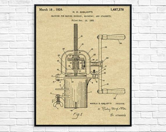 Pasta maker patent pasta maker blueprint pasta maker art malvernweather Choice Image